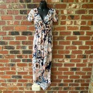 Pink Floral High Low Dress